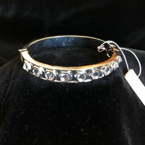 Ann Taylor Silver Tone Bracelet with Crystals